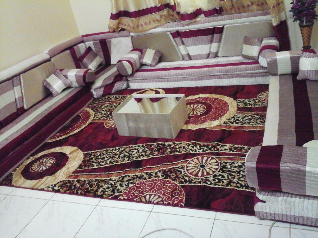 salon marocain mod le u djibouti. Black Bedroom Furniture Sets. Home Design Ideas