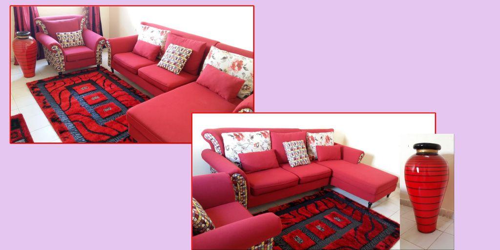 Canapé d'angle flambant neuf +tapis