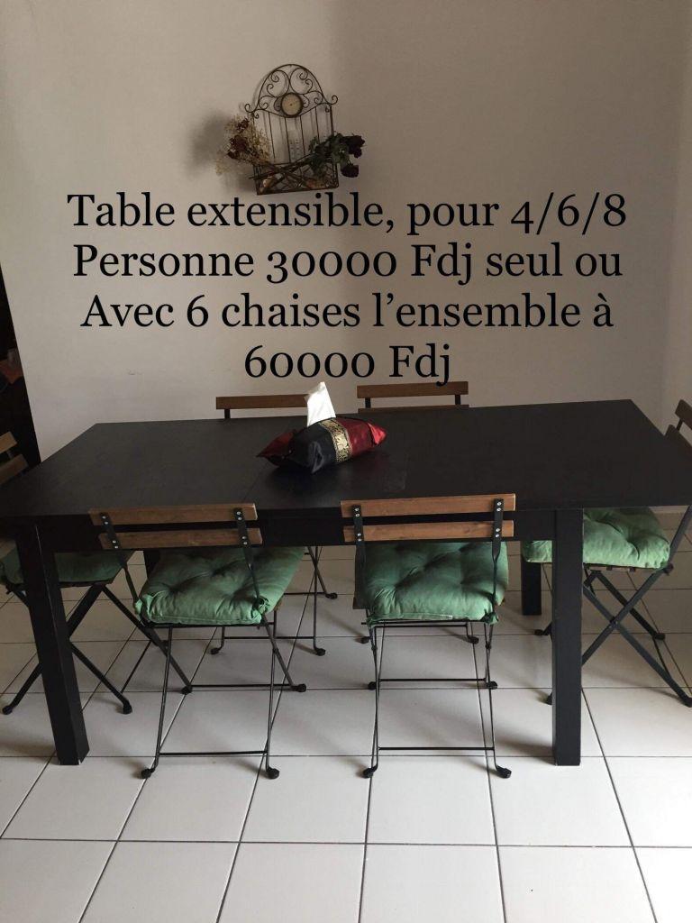 table manger ik a noire djibouti. Black Bedroom Furniture Sets. Home Design Ideas